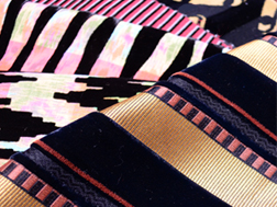 Fabrics used for various fashion shows in Paris by famous designers in the 80's and the '90s.